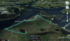GPS track of the route