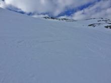 On my way up the steep hillside