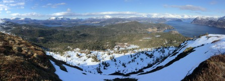 Panorama from the east ridge