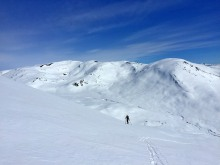 High above Grindsdalen valley