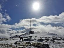 Rjåhornet summit