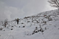 Not-so-good skiing conditions up to Kvamstua