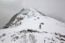 Across the ridge