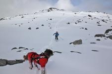 Descending from Blåtind