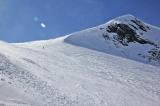Descending onto the glacier