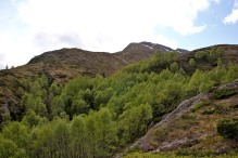 To the southeast ridge