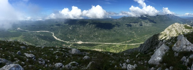 Summit panorama - towards Biokovo