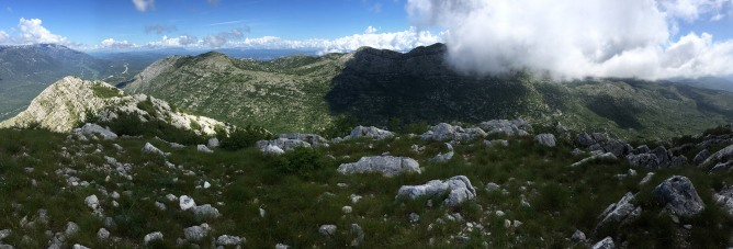 Summit panorama - towards Sibenik