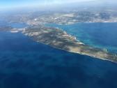 Looking down on Ciovo island