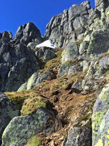 Towards the slab-rock gully