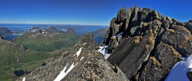 The summit area