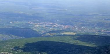 Knin seen from Dinara