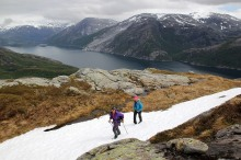 Almost up on Landseterfjellet