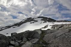 The main summit above