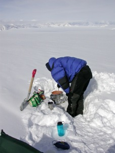 Cooking - a significant part of the expedition