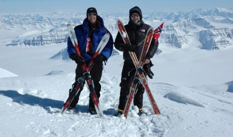 Torstein and Per Ove did the 1st ski-descent of Gunnbjørn Fjeld