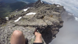 The Go-pro makes this ridge flat. It isn't!