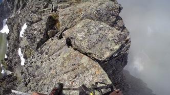 A very exposed ridge