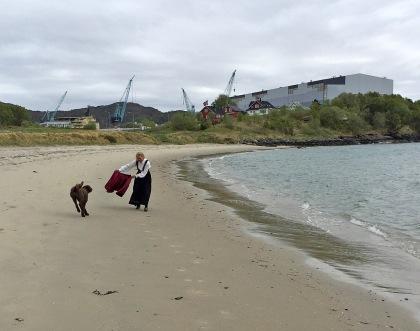 At the beach in Ulsteinvik