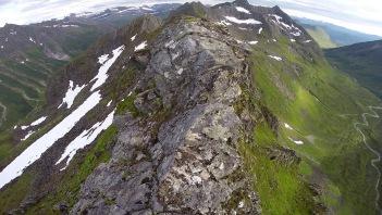 Exposed ridge ahead