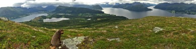 Helgehornet summit view