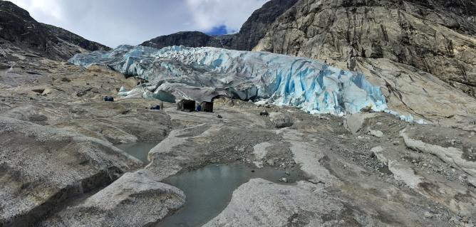 The glacier front