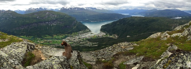 Vista point above Stryn