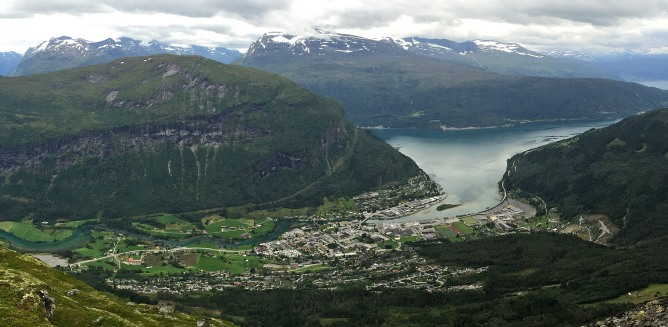 The village of Stryn