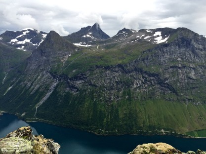 View across Norangsfjorden towards Saksa