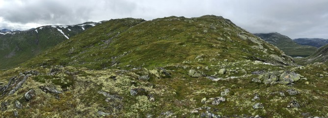 The Vardefjellet ridge continues upwards