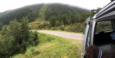 The trailhead in Urkedalen