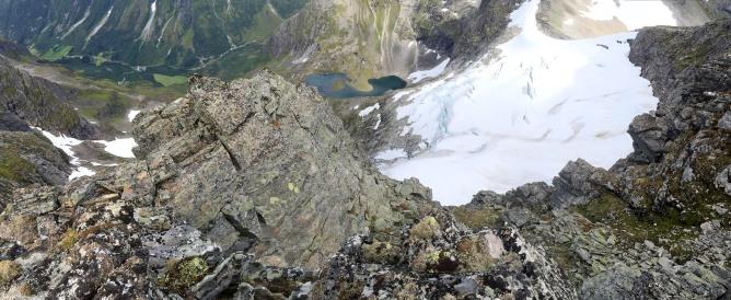 Glacier below