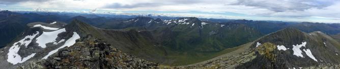 Panorama from Trollvasstinden