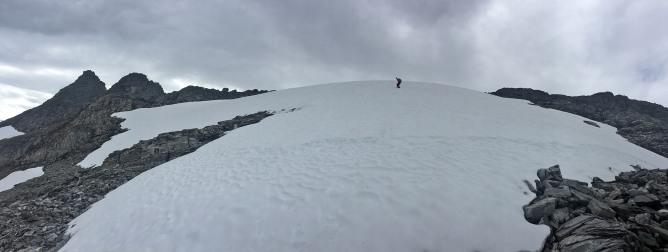 Negotiating a snow field