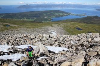 Up the north ridge