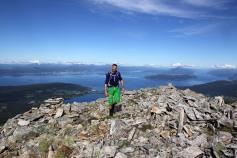 Jørgen approaching the summit