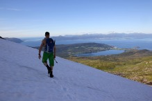 Crossing Ytstetinden's north ridge