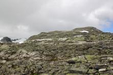 The ridge ahead of us