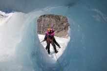 Lena and Terje and a near heart-shaped tunnel
