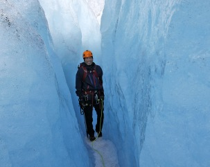 Through the large crevasse again
