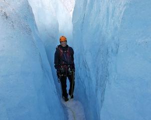 Through the large crevasse again