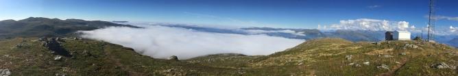 Above the fog. Always nice!