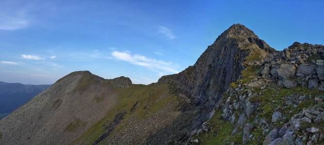 Almost on the west ridge