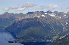 The peaks above Urke