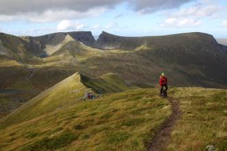 Following the ridge path