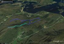 My combined bike-and-hike route