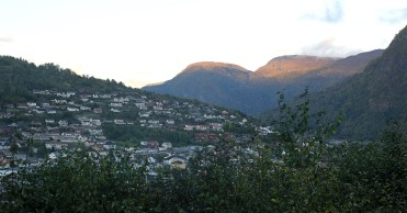 Solvornnipa (right) - seen from Anne's place after the hike