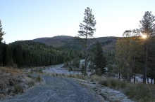The road into Kordalen
