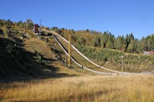 Back at the ski-jumping hill