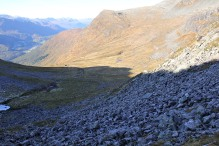 Up this boulder field